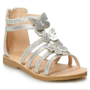 Jumping Beans Silver Butterfly Sandals